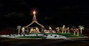 nativity decorations outdoor rainforest islands ferry