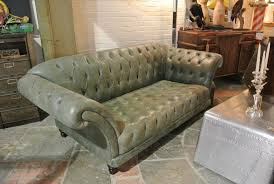 Leather Chesterfield Sofa by Vintage Sage Green Leather Chesterfield Sofa Home Alchemy