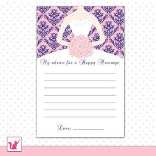 Advice To The Bride Cards Gold Black Bridal Shower Advice Cards U2013 Pink The Cat