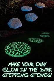 make glow in the dark stepping stones stone dark and gardens