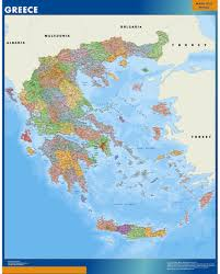 Greece Maps Our Greece Wall Map Wall Maps Mapmakers Offers Poster Laminated