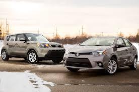 nissan versa vs toyota corolla 2014 kia soul vs 2014 toyota corolla automobile magazine