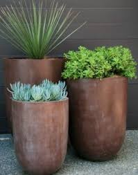 tall grey modern planters gardens pinterest tall greys