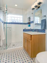 Blue Glass Bathroom Accessories Bathroom Design White Glossy Sink Blue And White Bathroom With