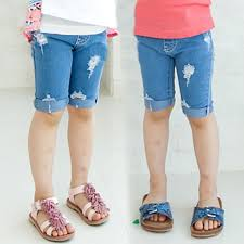 High Waisted Jeans For Kids New Arrival Children Summer Hole Style Half Pants For Boys Denim