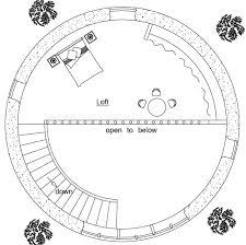 2 story earthbag roundhouse plan top loft plan dream home