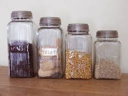 kitchen canisters glass kitchen retro glass storage from farmhouse wares glass storage
