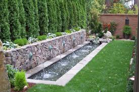 small backyard water feature waterfall garden features bbc amys