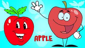 funny nursery cartoon rhymes for children learn fruits animation