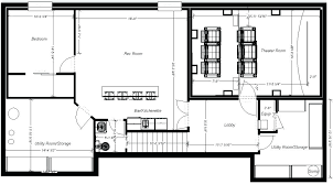 basement floor plans ideas lower floor plan of ranch house plan 92395 ranch home plans with