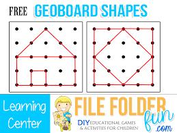 pattern games for third grade printable geoboard patterns