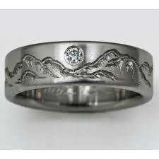 Titanium Wedding Rings by Montana 3 Titanium Ring With Mountains Titanium Wedding Rings