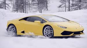 Lamborghini Huracan Drift - lamborghini brings winter driving academy to u s