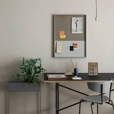 ferm living bulletin board magnetic board frame pinboard gray 62x3 this multi functional plate of ferm living room is made out of different materials the frame is made of wood the inside has a flat cork cotton and powder