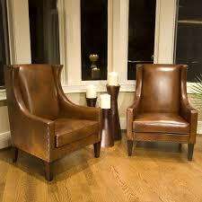 Brown Leather Accent Chair Elements Home Bri 2pc Sc Sc Rust 1 Bristol Top Grain Leather
