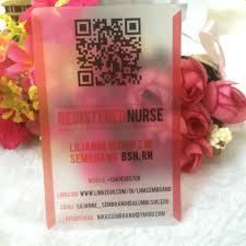 Plastic Business Card Printer Online Get Cheap Transparent Business Card Printing Aliexpress