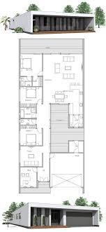 house plans narrow lot floor plan ultra front lot home block plan mid modern