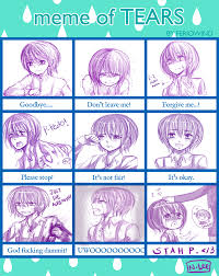 Tears Meme - meme of tears favourites by feriowind on deviantart