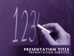 royalty free math powerpoint template in purple