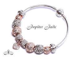 rose bracelet charm images Authentic pandora silver bangle bracelet european charms rose gold jpg
