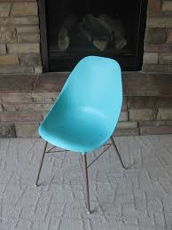 Small Bucket Armchairs 1960s Turquoise Aqua Scoop Chair Mid Century Modern Plastic