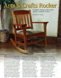 Wooden Rocking Chair Dimensions Arts U0026 Crafts Rocking Chair Plan U2022 Woodarchivist