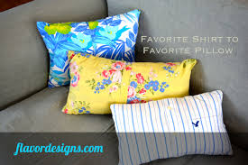 Upcycled Pillows - upcycling from favorite shirt to favorite pillow flavor designs