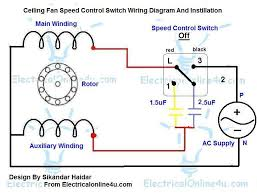 fan motor speed control switch replacing capacitor in ceiling fan with diagrams electrical online 4u