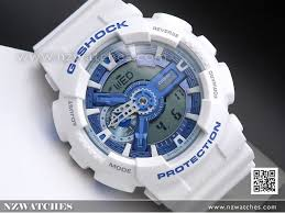 light blue g shock watch buy casio g shock white and light blue analog digital watch ga 110wb