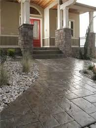 hand colored flagstone concrete patios increte of houston houston