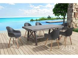 Zuo Outdoor Furniture by Zuo Outdoor Ford Wood 78 70 X 39 40 Rectangular Dining Table In