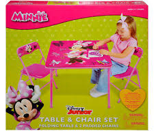 Minnie Mouse Table And Chairs Disney Home And Garden Furniture Ebay