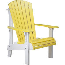Yellow Plastic Adirondack Chair Luxcraft Adirondack Chair Royal Edition With Elevated Seat Height