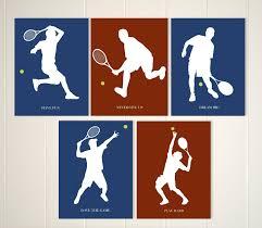 tennis art boys wall decor zoom