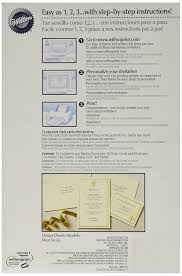 Invitation Reply Card Amazon Com Wilton 50 Count Invitation Kit Ivory Fleur De Lis