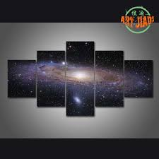 aliexpress com buy andromeda galaxy 5 pieces sets canvas art 5