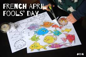 Stick Paper French April Fools U0027 Day Tricky Fishes Papier Bonbon