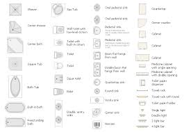 floor plan bathroom symbols home deco plans
