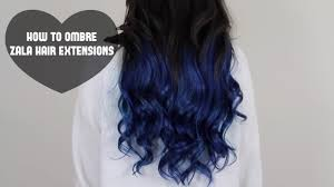 Colored Hair Extension by How To Ombre Zala Hair Extensions Youtube
