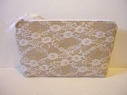 bridal makeup bag burlap and lace clutch bag bridal makeup bag bridal zipper