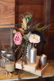 Peacock Feather Centerpieces by Feather Centerpiece