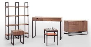 contrast chess walnut side table made com