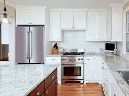 White Kitchen Cabinets And White Countertops White Kitchen Cabinets With White Quartz Countertops Kitchen And