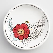 eclectic dish ring holder images Painted flower ceramic trinket dish world market tif&a