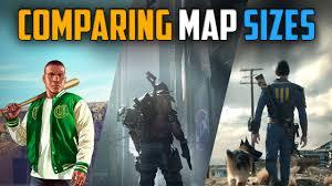 Map Size Comparison The Division Map Size Comparison To Gta V U0026 Fallout 4 Youtube
