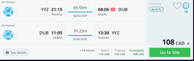 Air Transit Kitchener - air transat advertises cheap tickets from canada to europe
