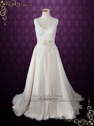 v neck silk chiffon grecian beach wedding dress lace chiffon
