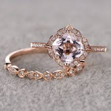 vintage wedding ring sets vintage wedding rings sets best 25 gold morganite ring ideas