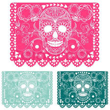 Day of the dead decoration Papel Picado Stock