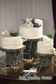 tree stump cake stand wood slices and stumps wedding decor